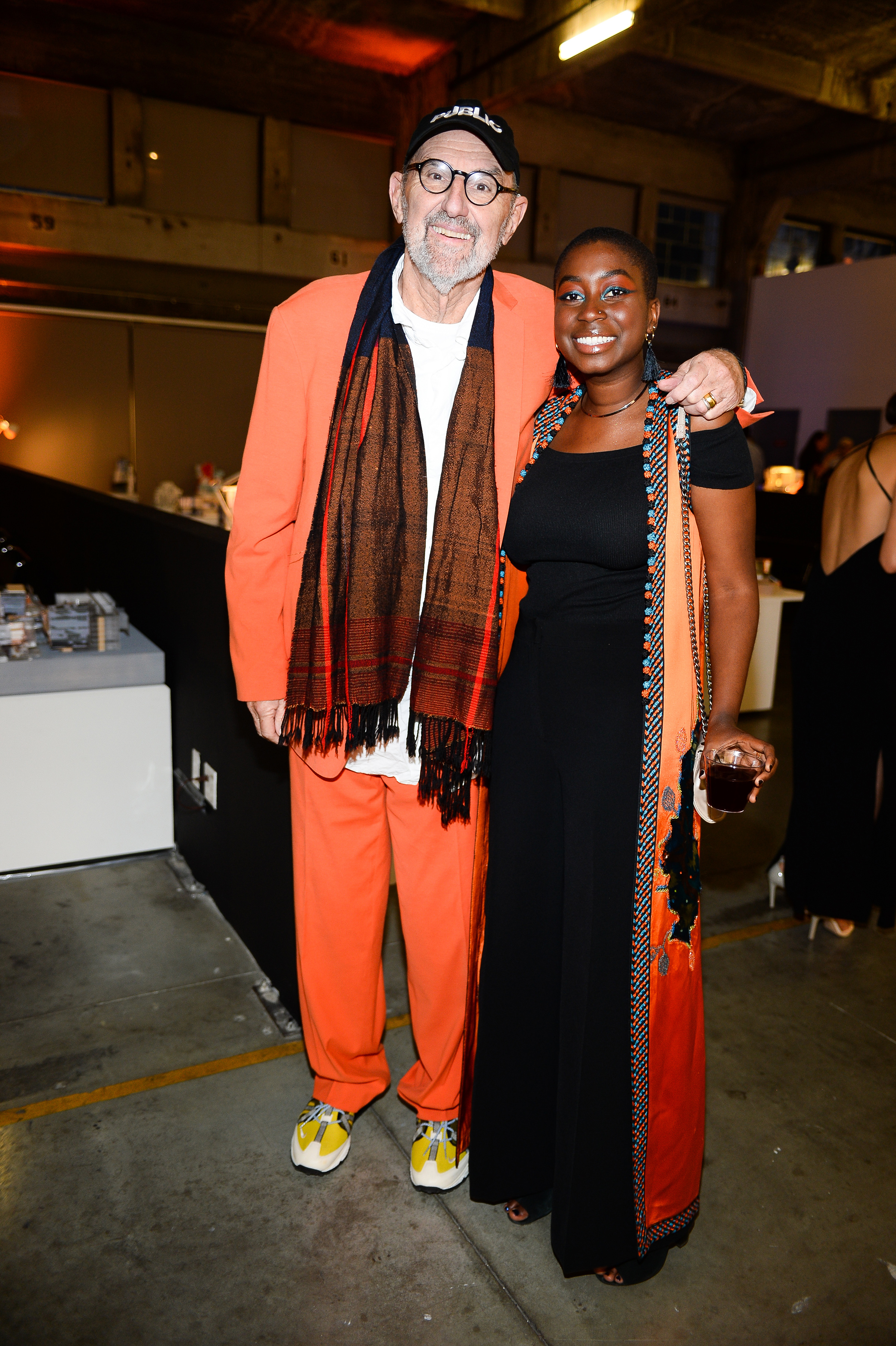 thom maine with student natou fall