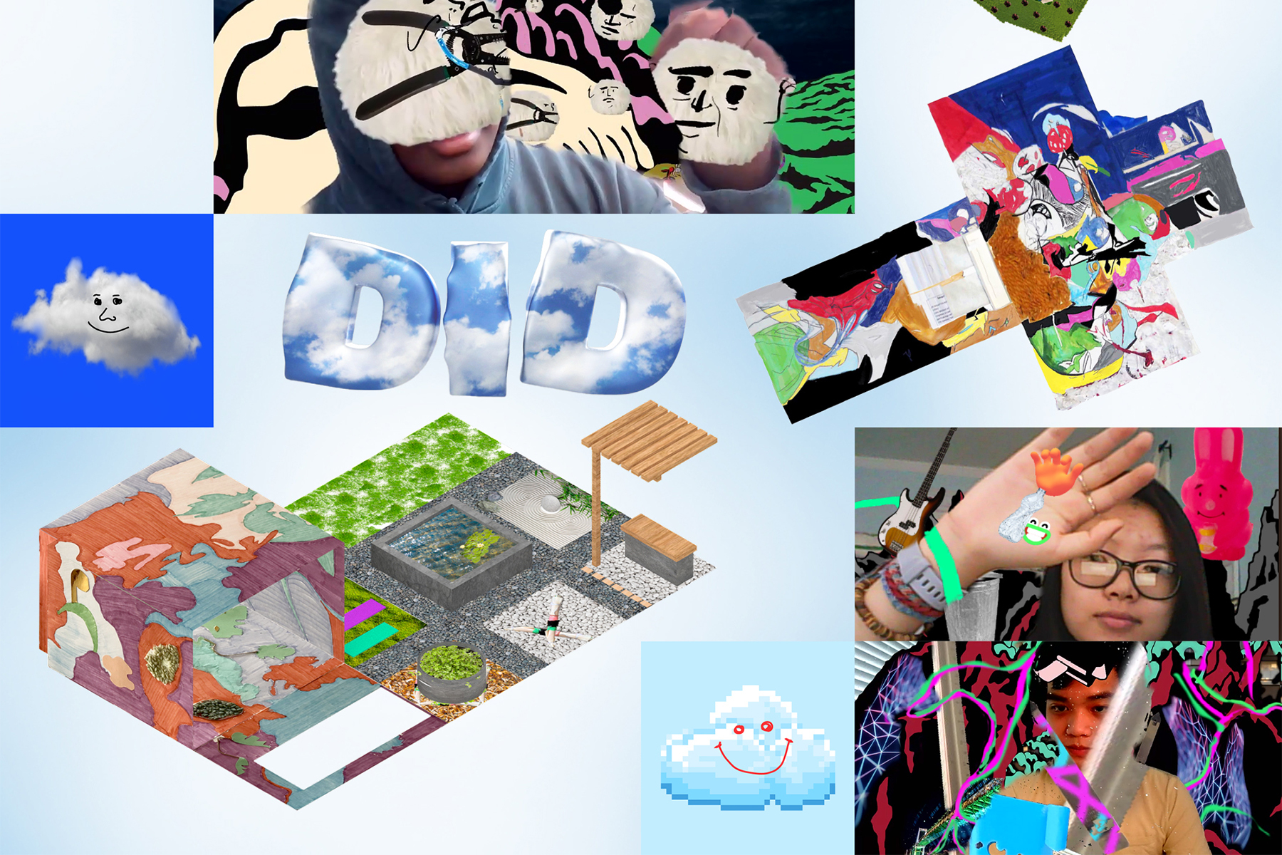 student work collage