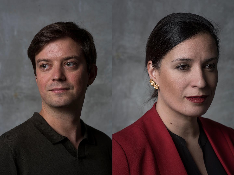 Damjan Jovanovic and Elena Manferdinis portraits