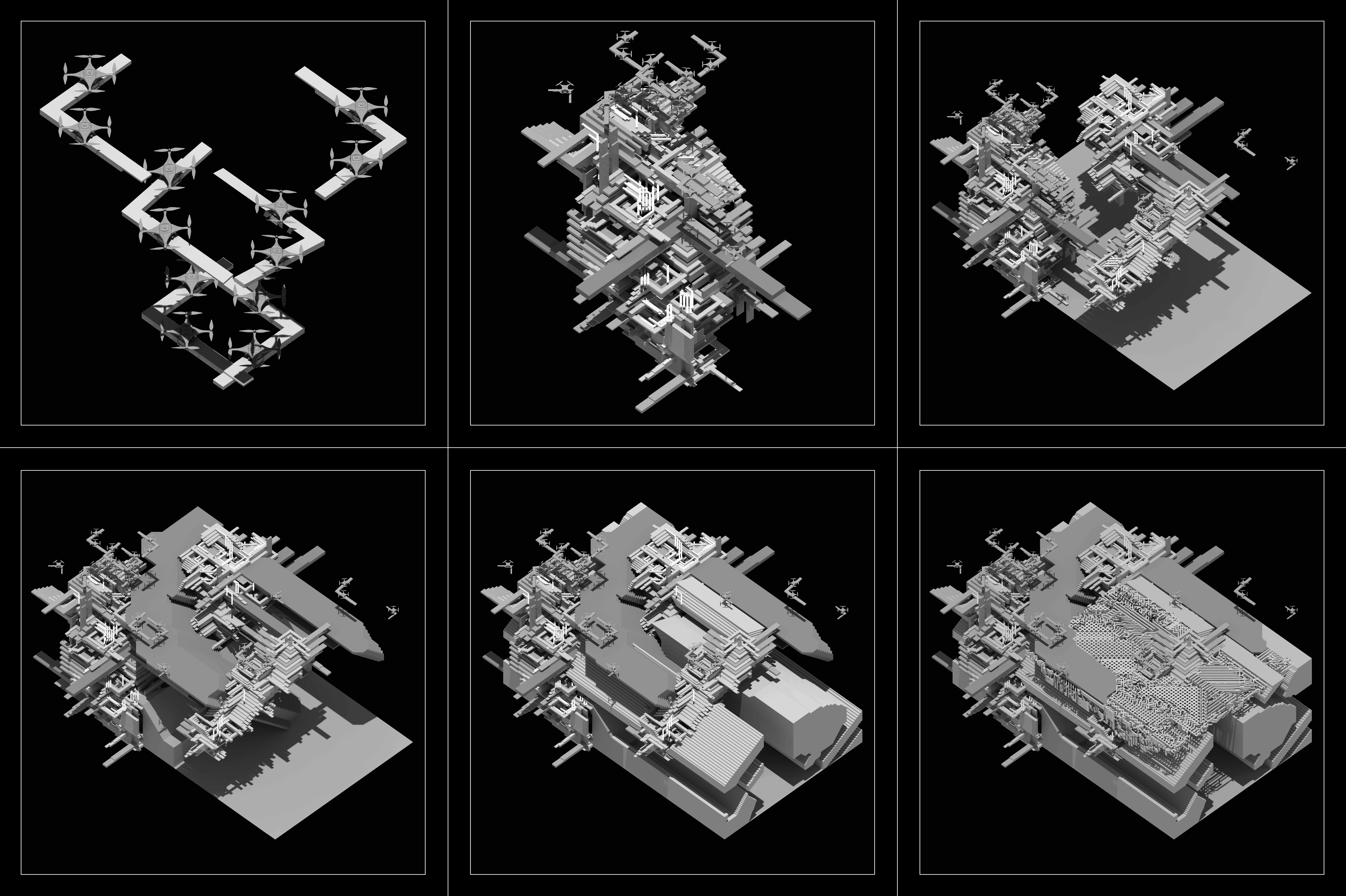 black and white detailed assembly of project