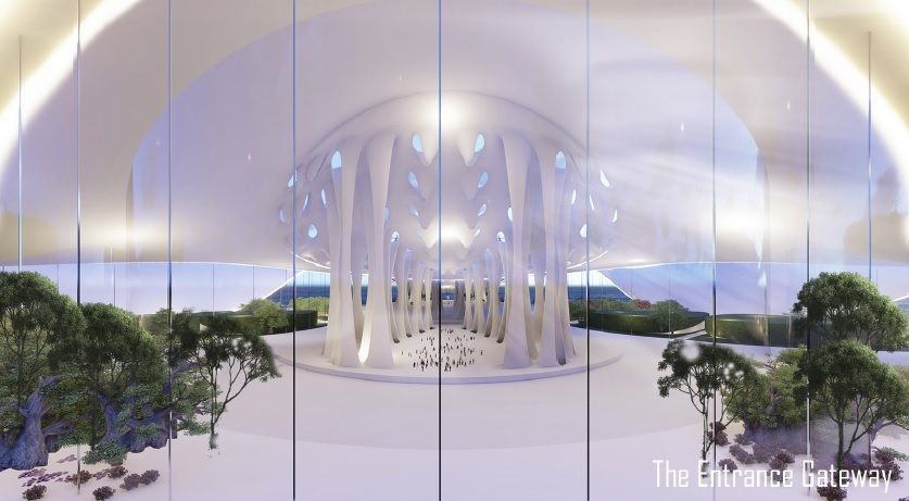 architecture render white interior