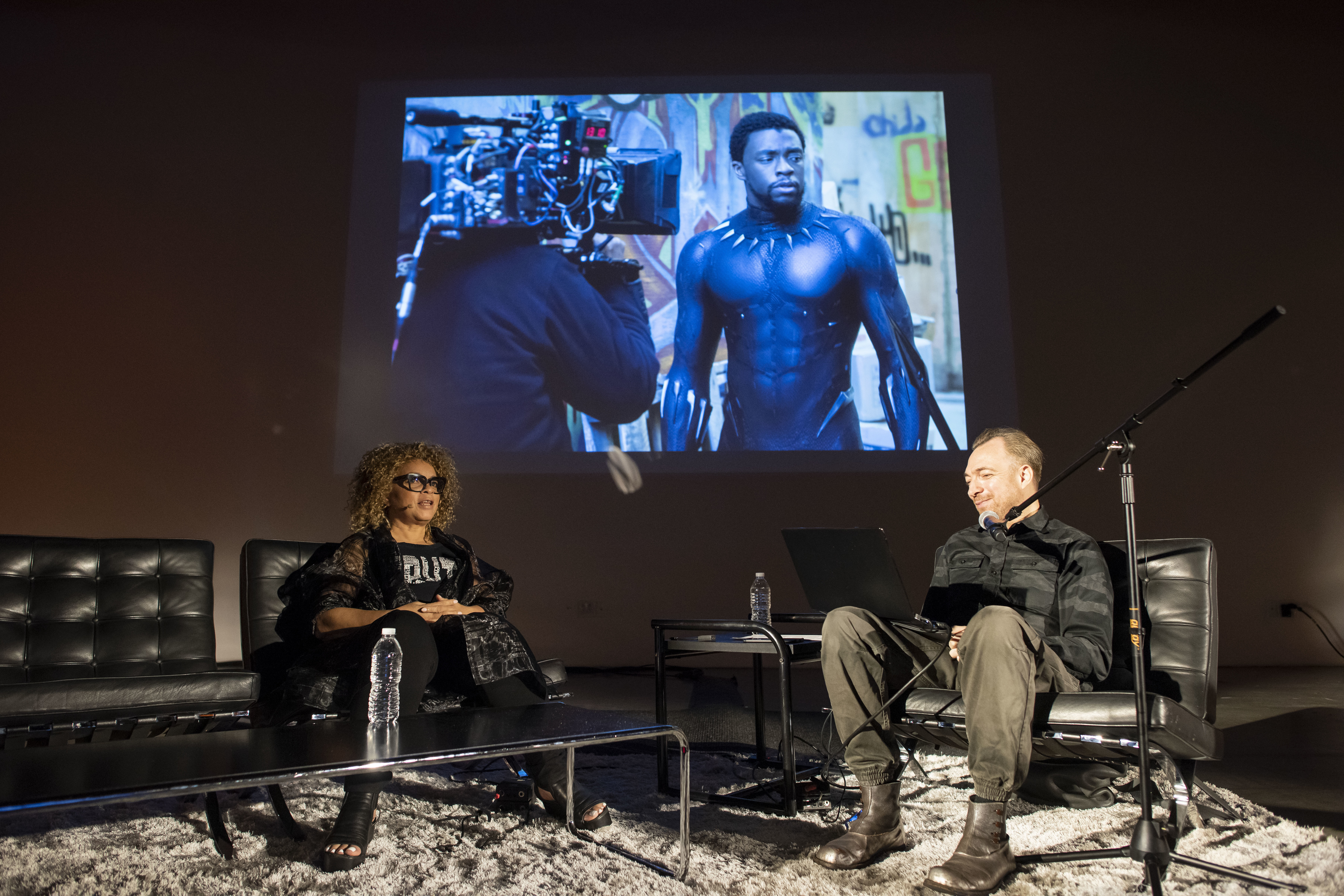Ruth Carter and Liam Young discussing about black panther movie costumes