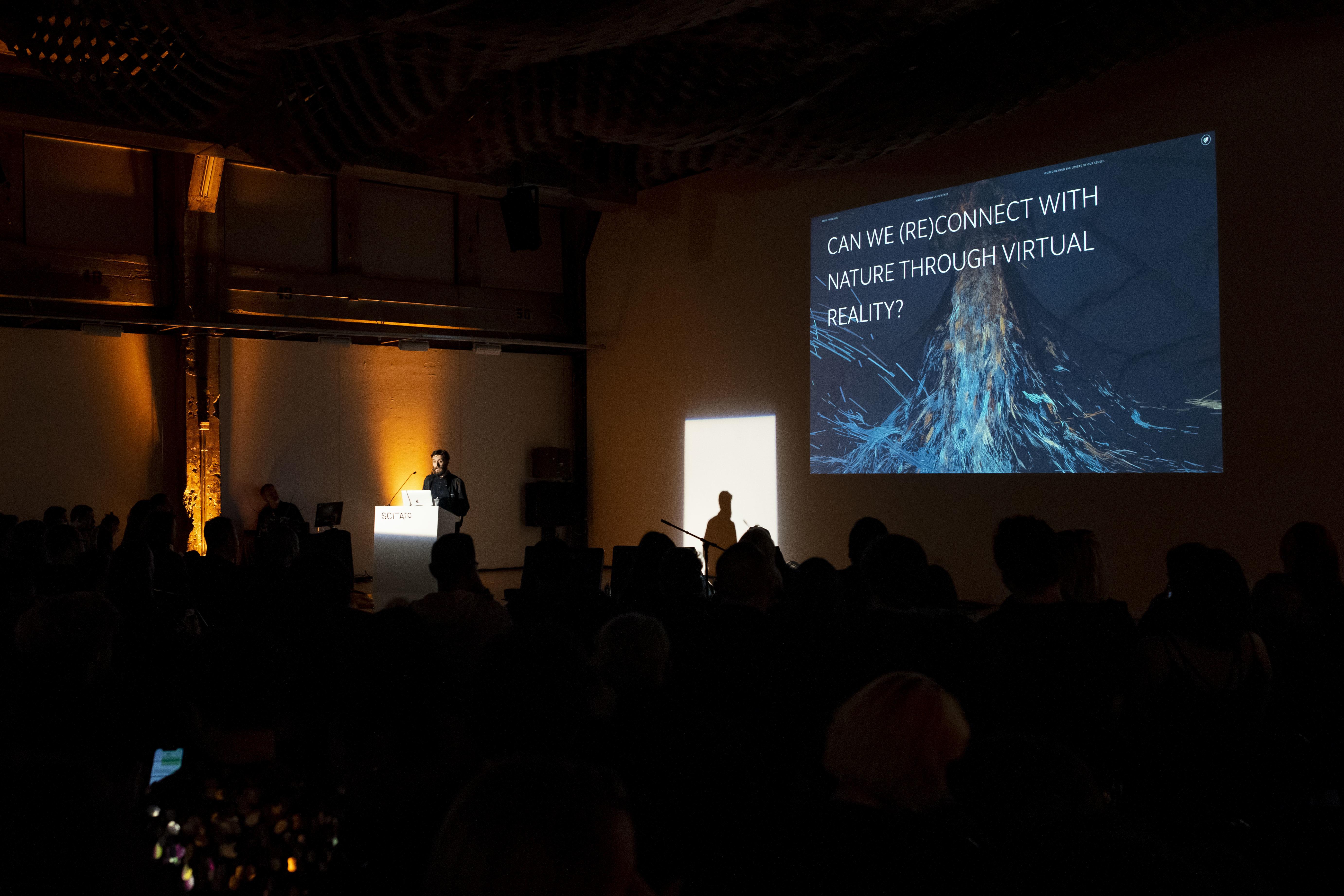 Ersinhan Ersin of Marshmellow Laser Feast talking about their projects