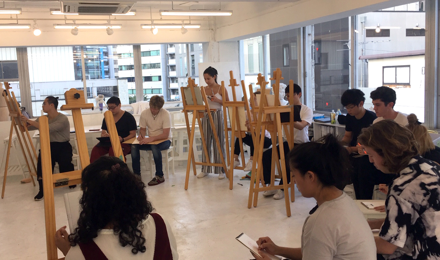 figure drawing fashion exercise with sci arc students