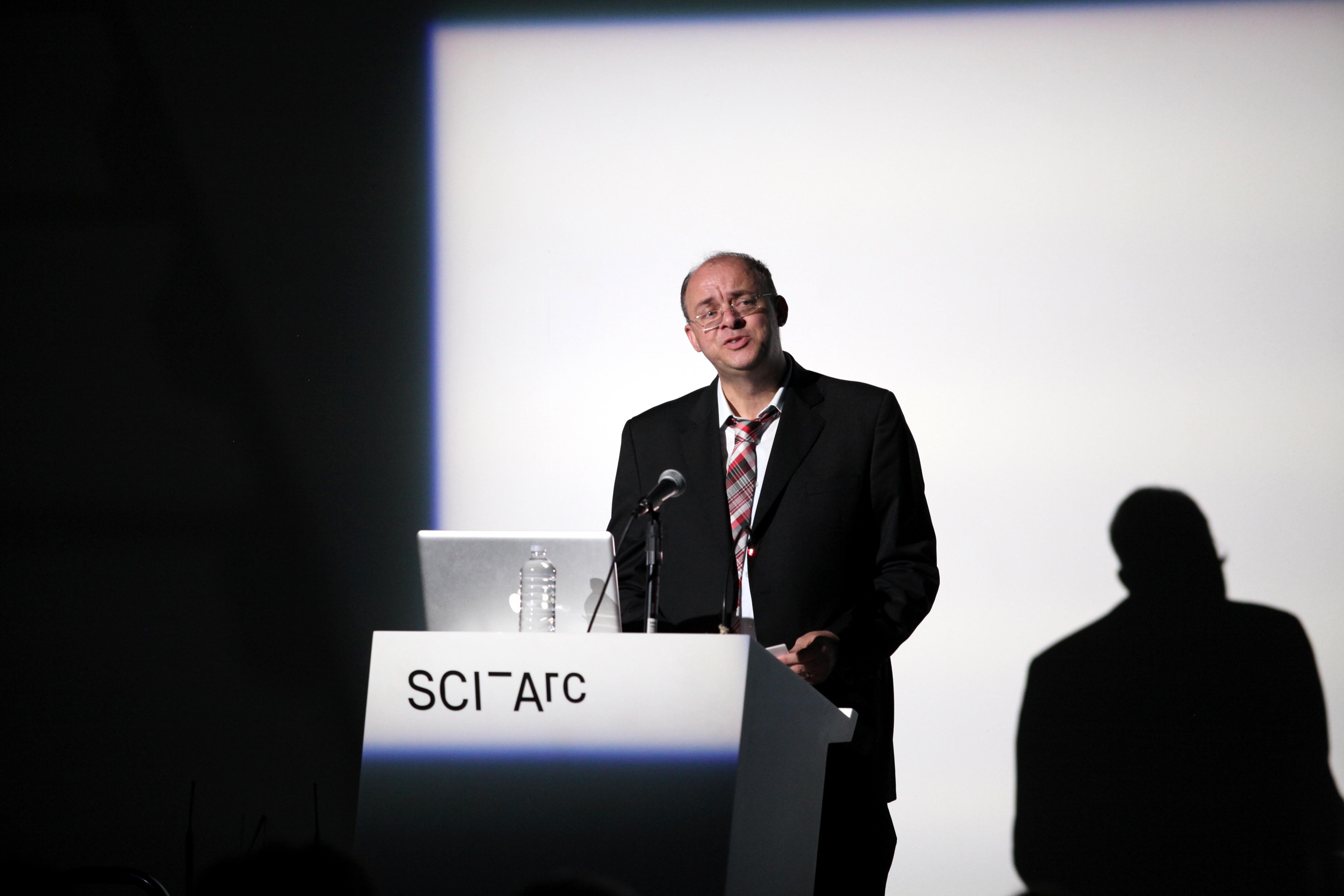 Graham Harman giving a talk