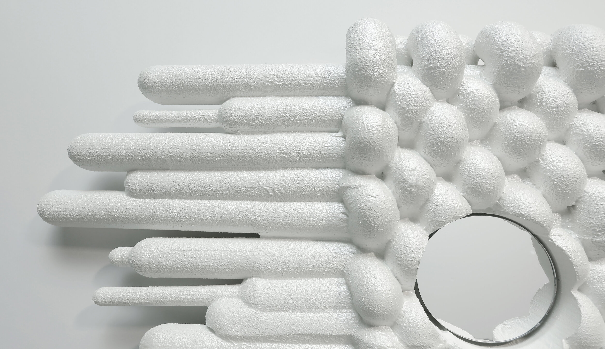 white on white foam model