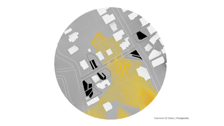 circle architecture render grey yellow white