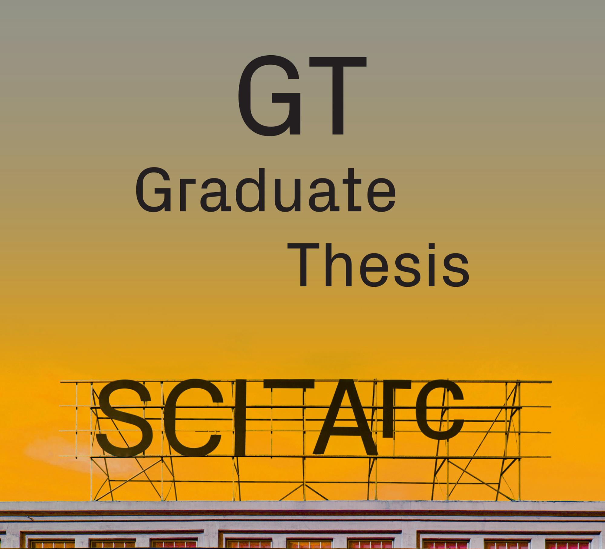 graduate thesis flyer gradient sante fe signage