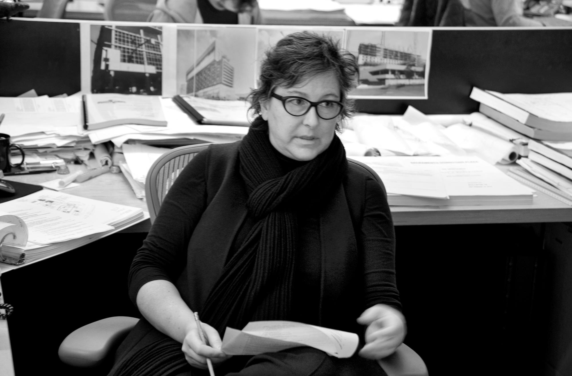 Wendy Bone at desk