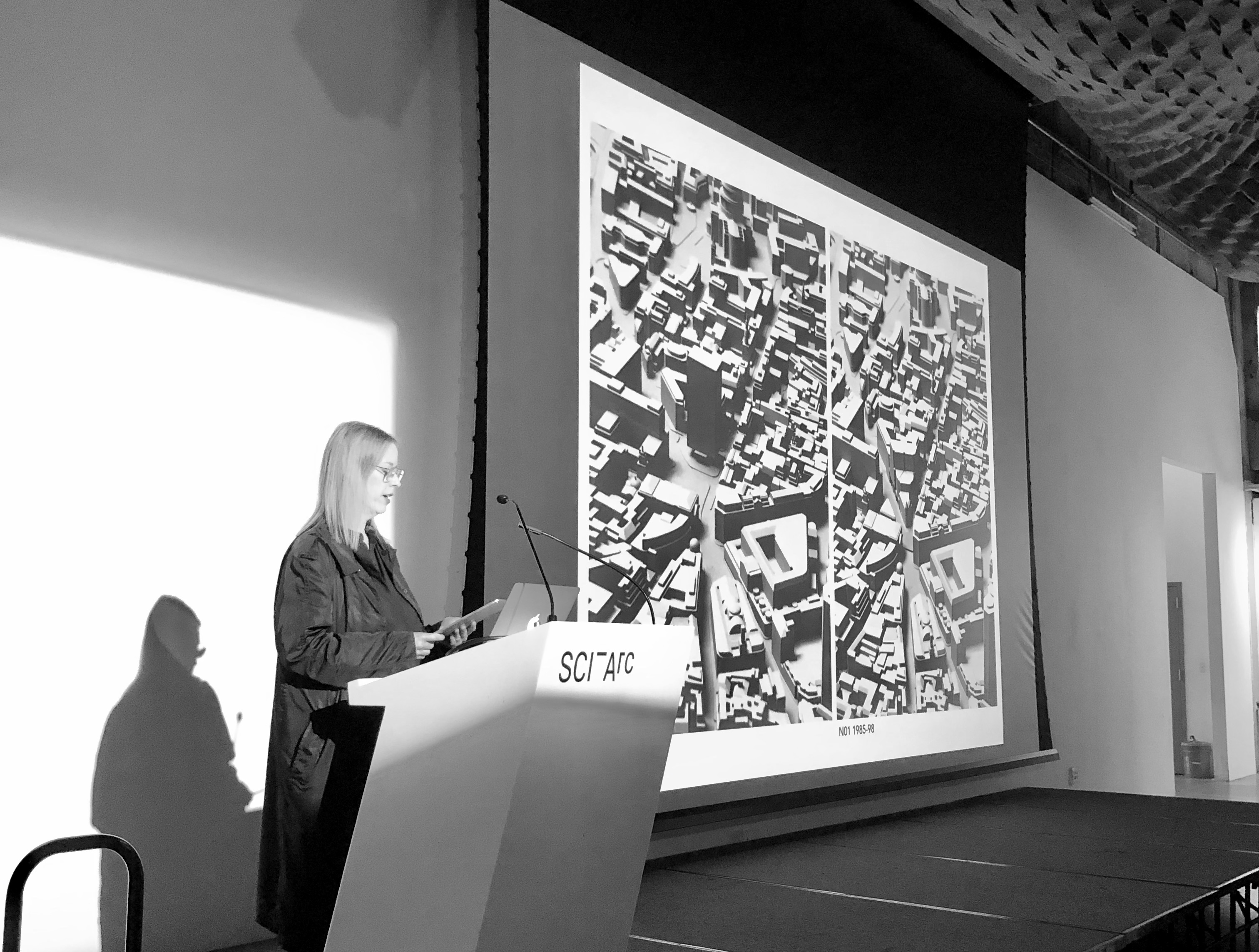 SCI-Arc Faculty Devyn Weiser presenting her Vertical Studio