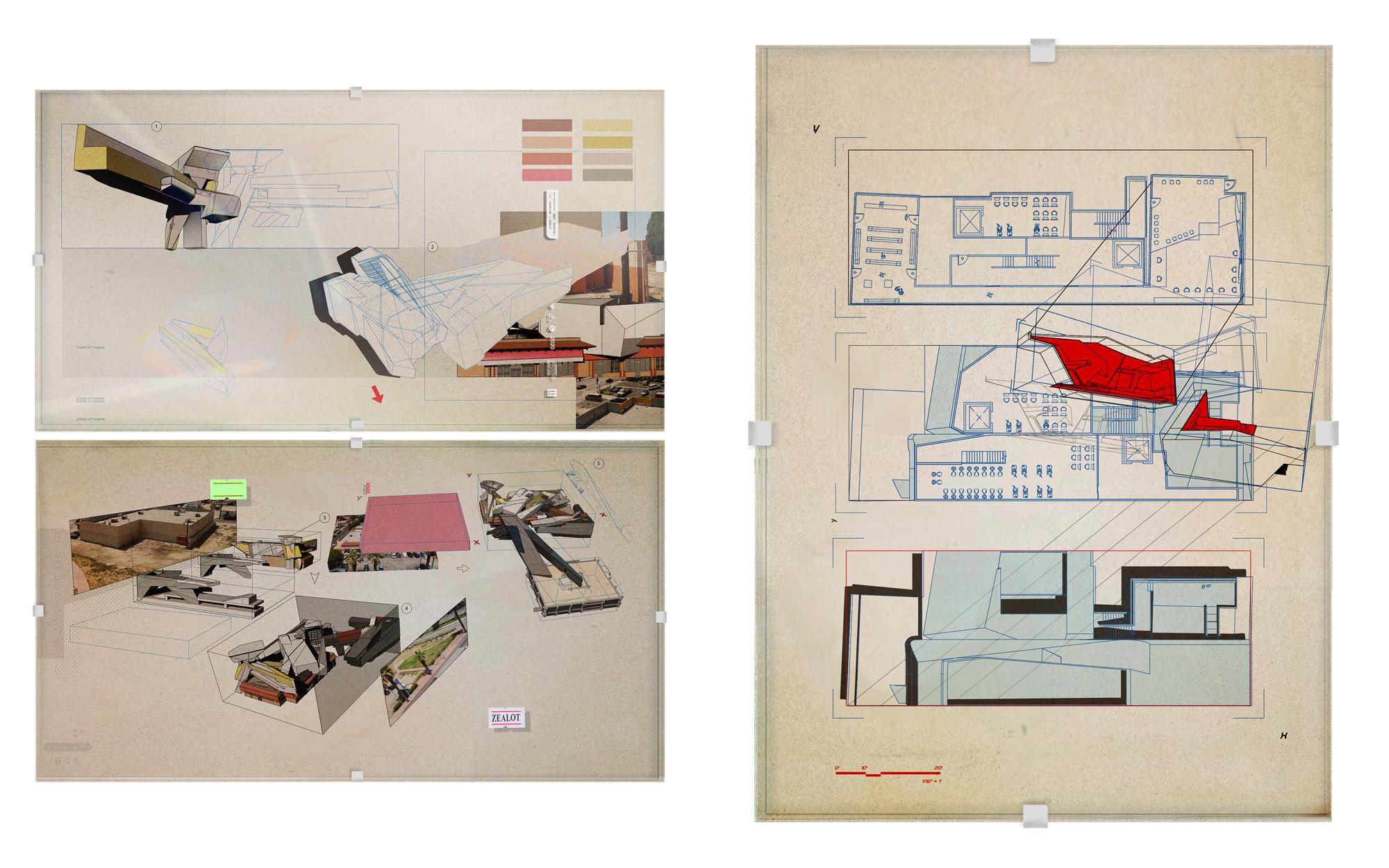 architecture board presentation sketches