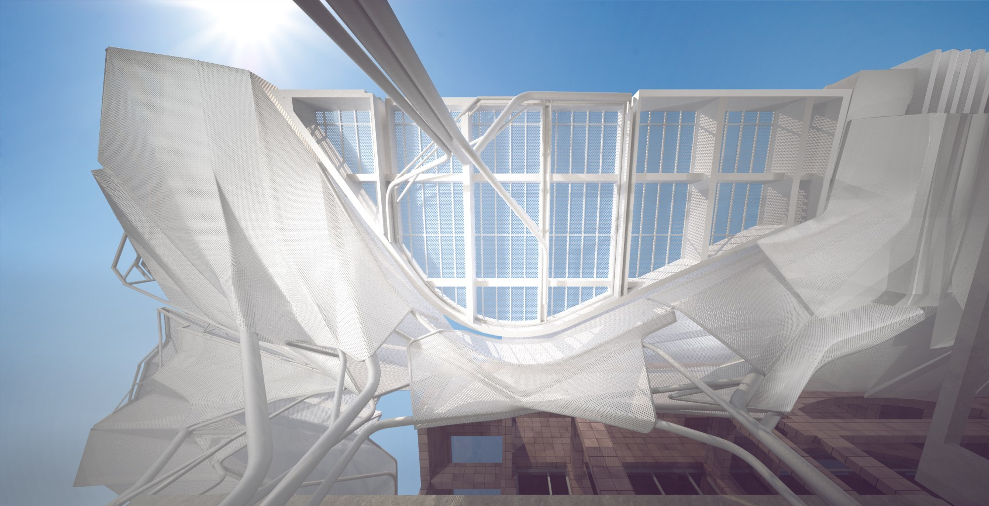 building awning ceiling