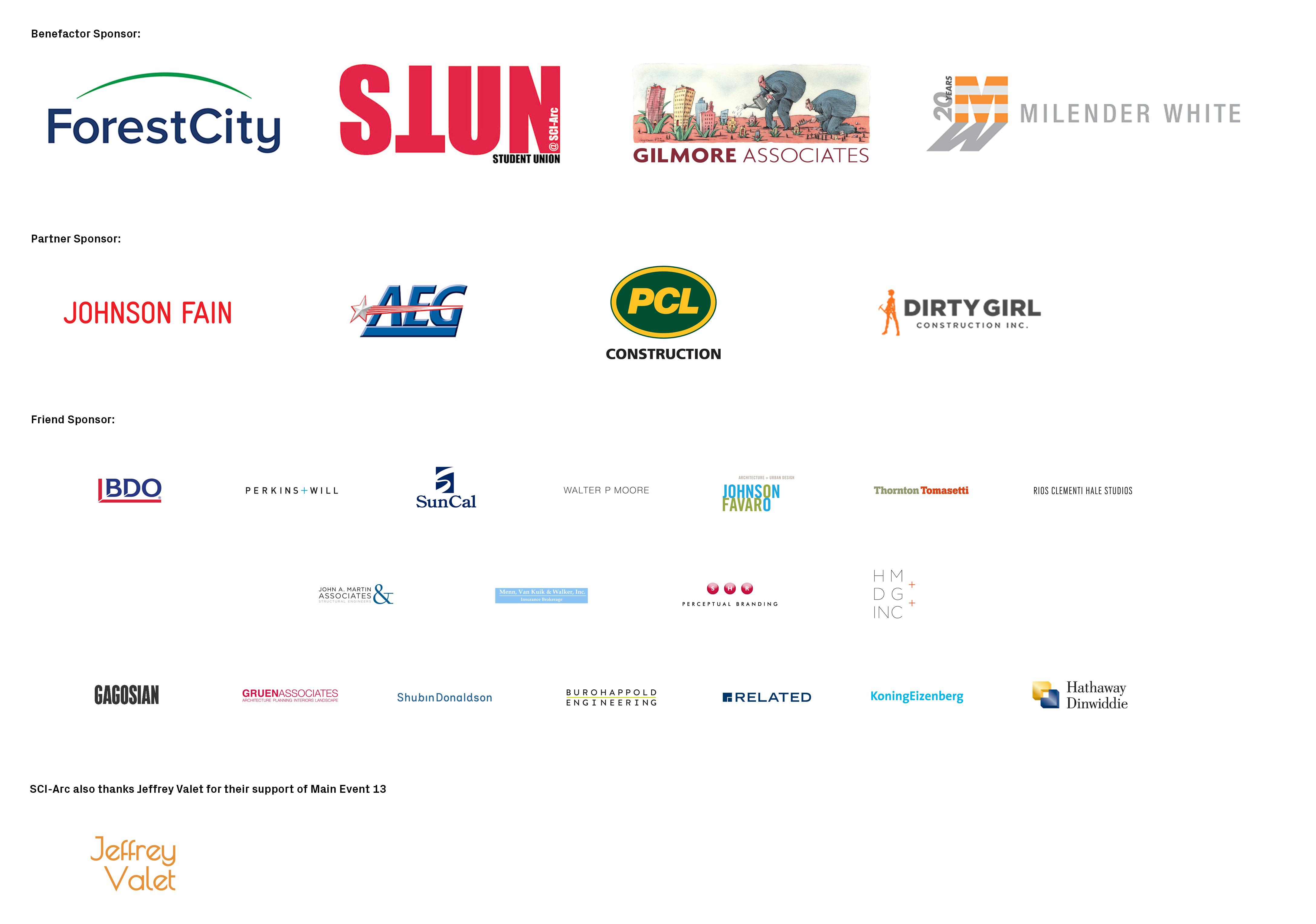 Main Event sponsor sheet
