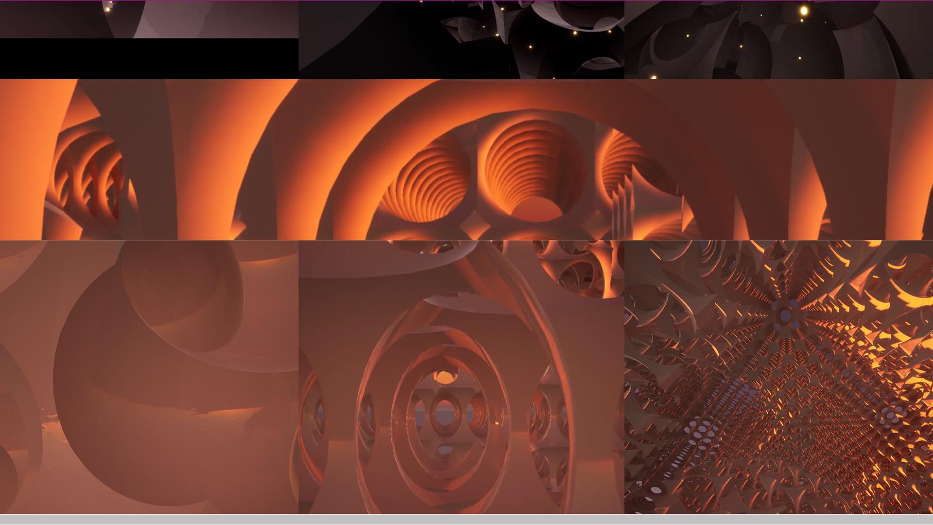 fractals orange digital render interiors