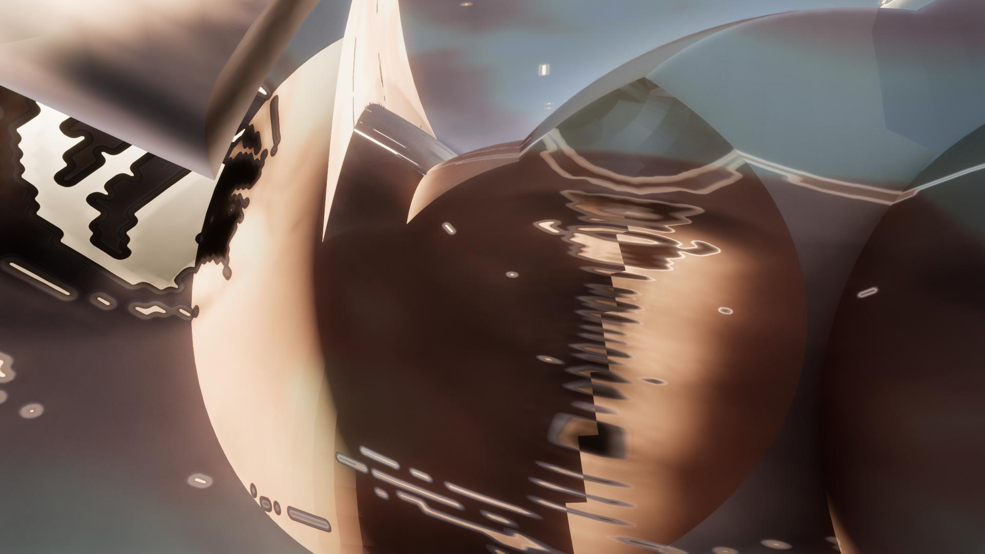 brown black sphere render