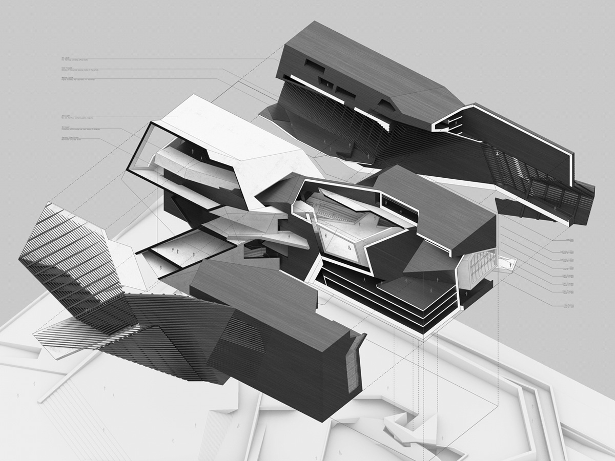 exploded isometric cladding interior section