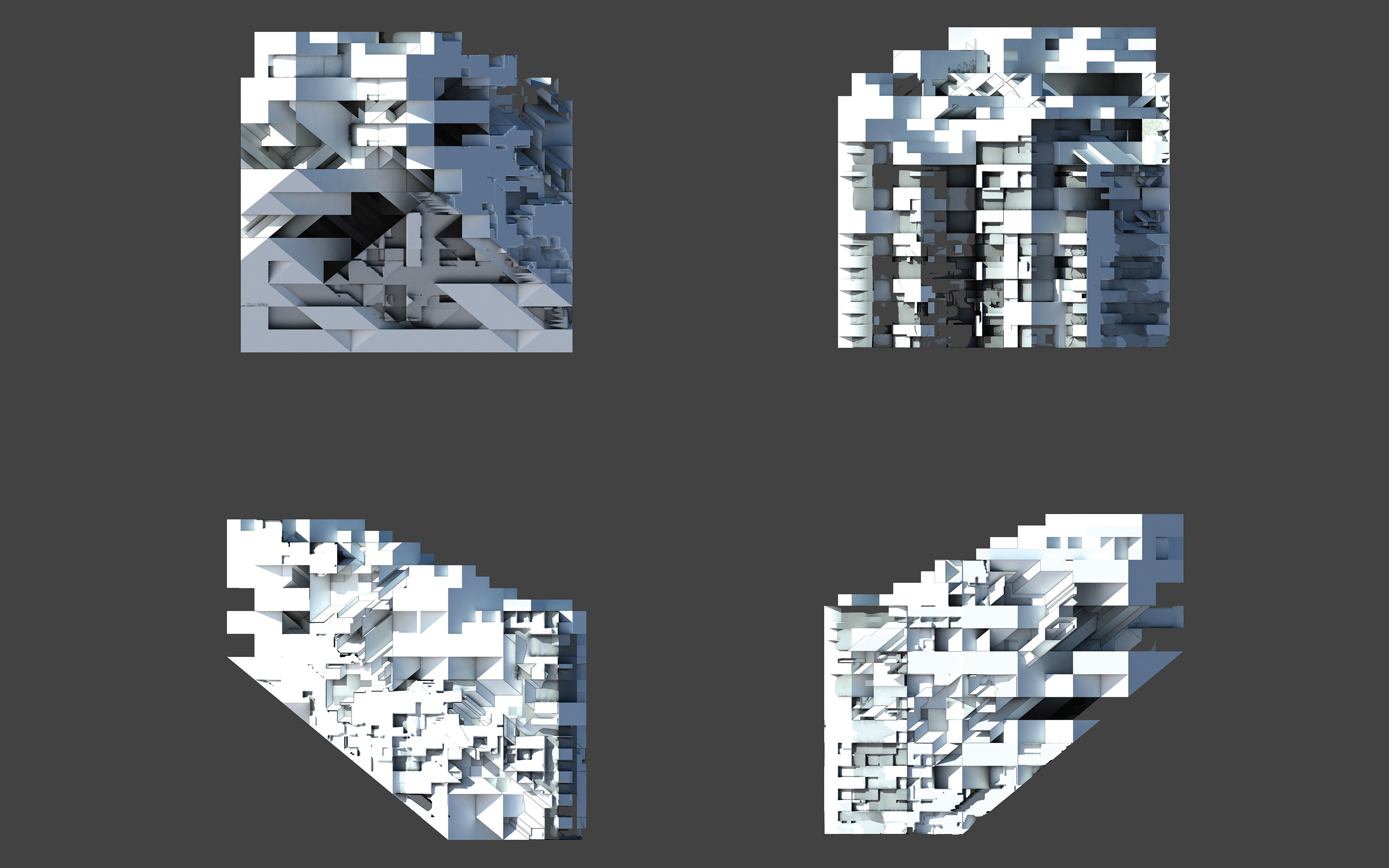 four view elevations blocky project
