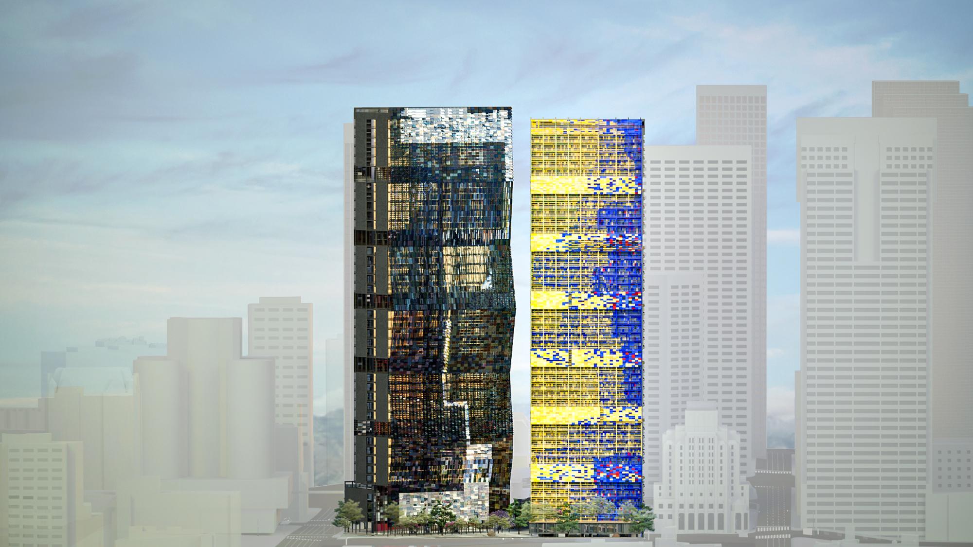 building facade render