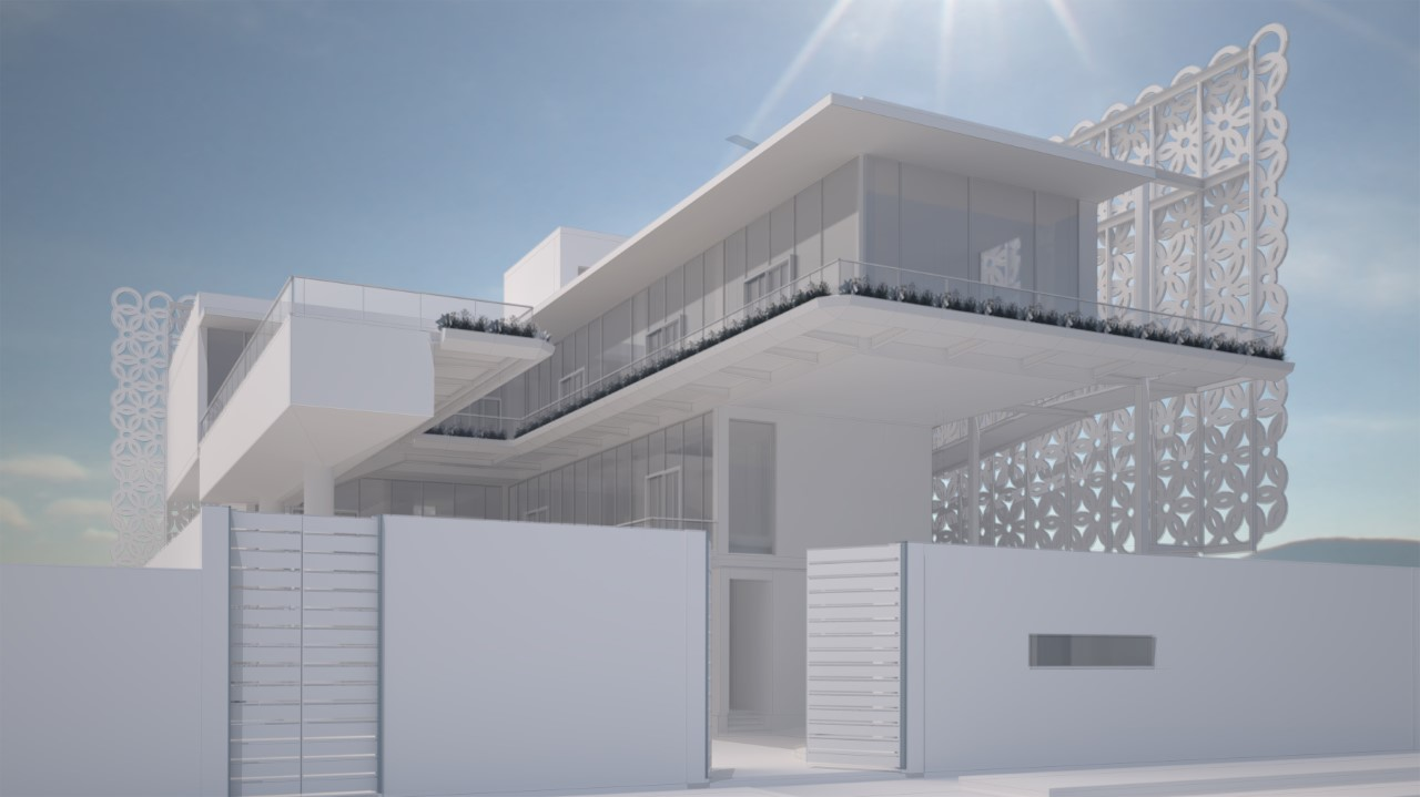 architectural rendering building