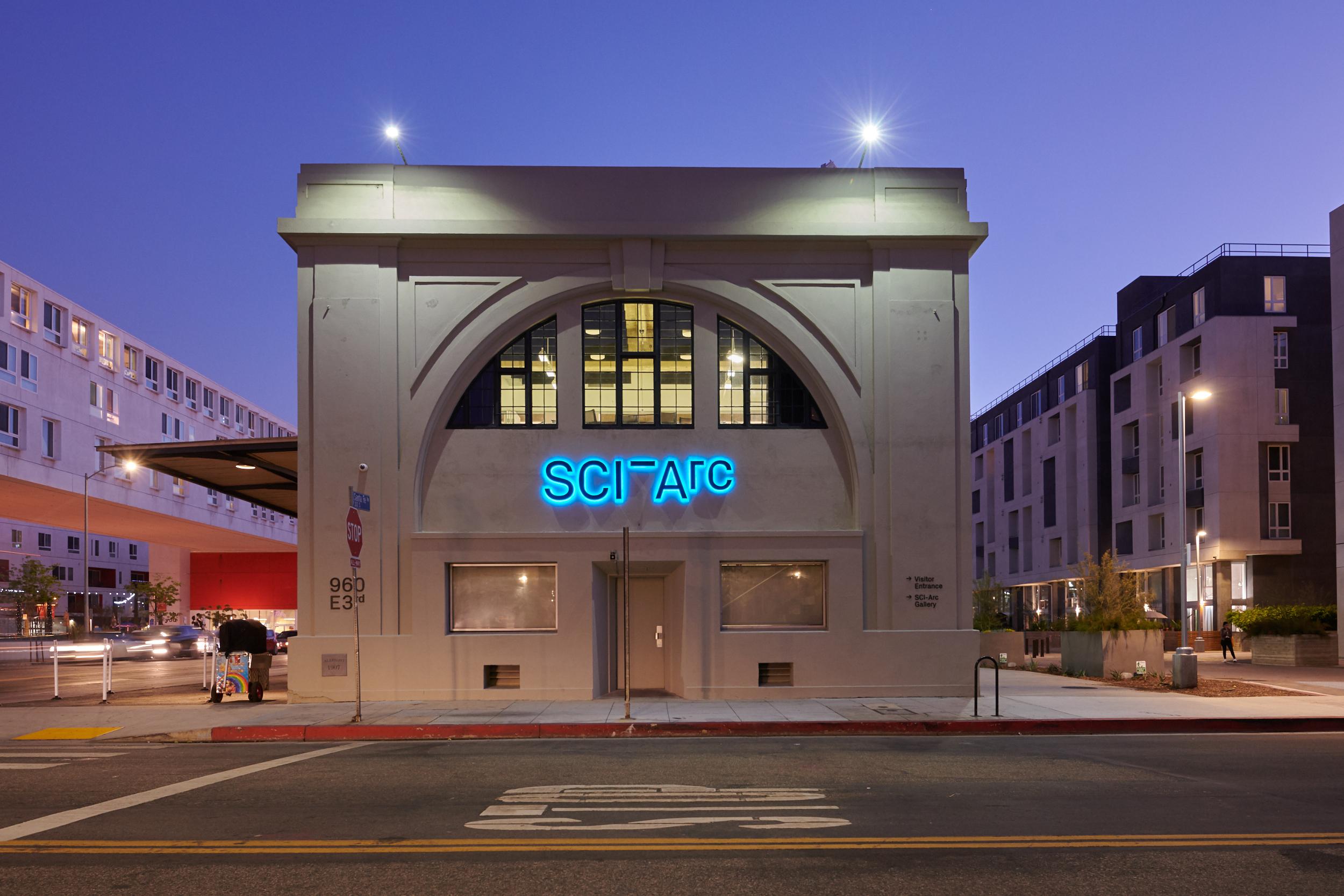 SCI-Arc facade black and white