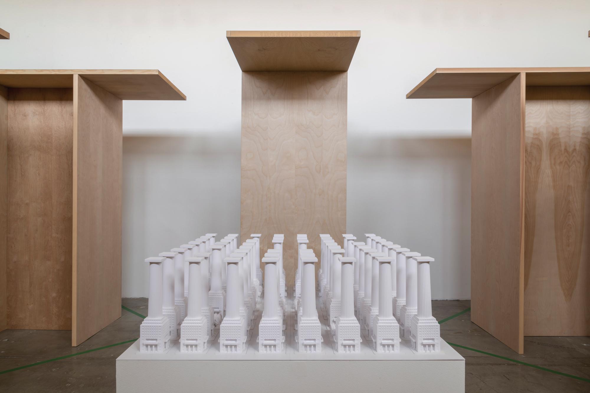 white architecture model art exhibition