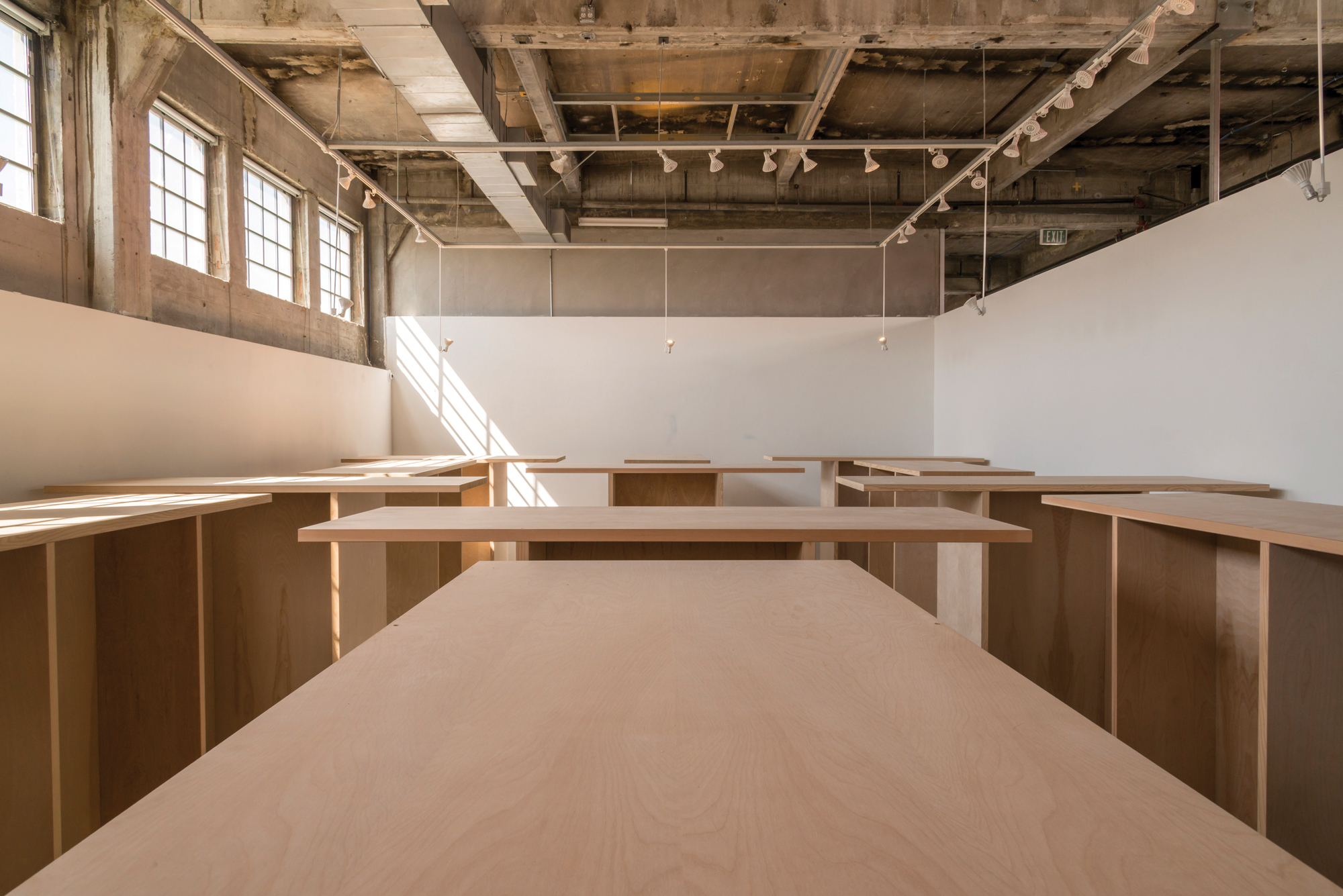wooden structure art exhibition