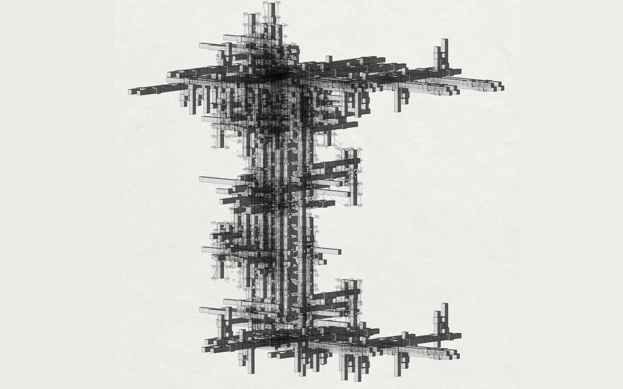 grid tower assembly free floating rendering