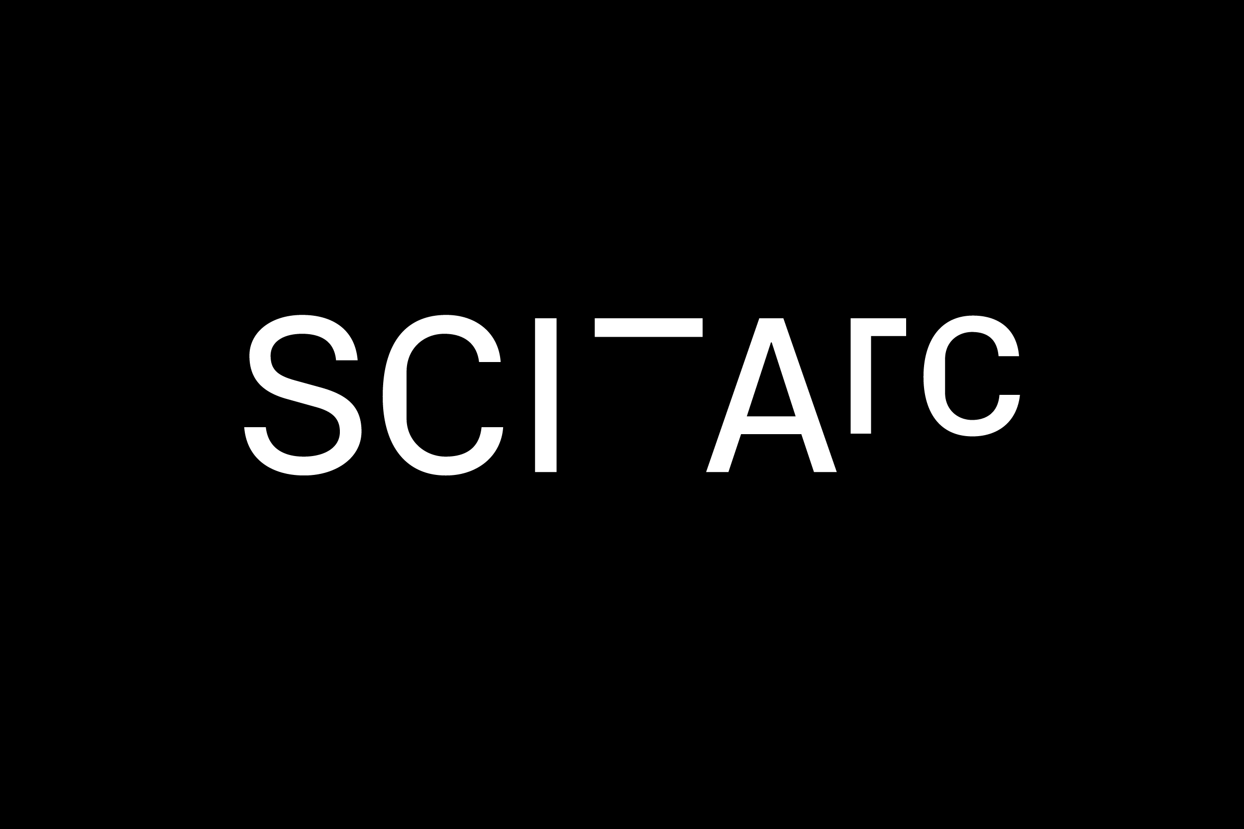 Sciarc logo white on black