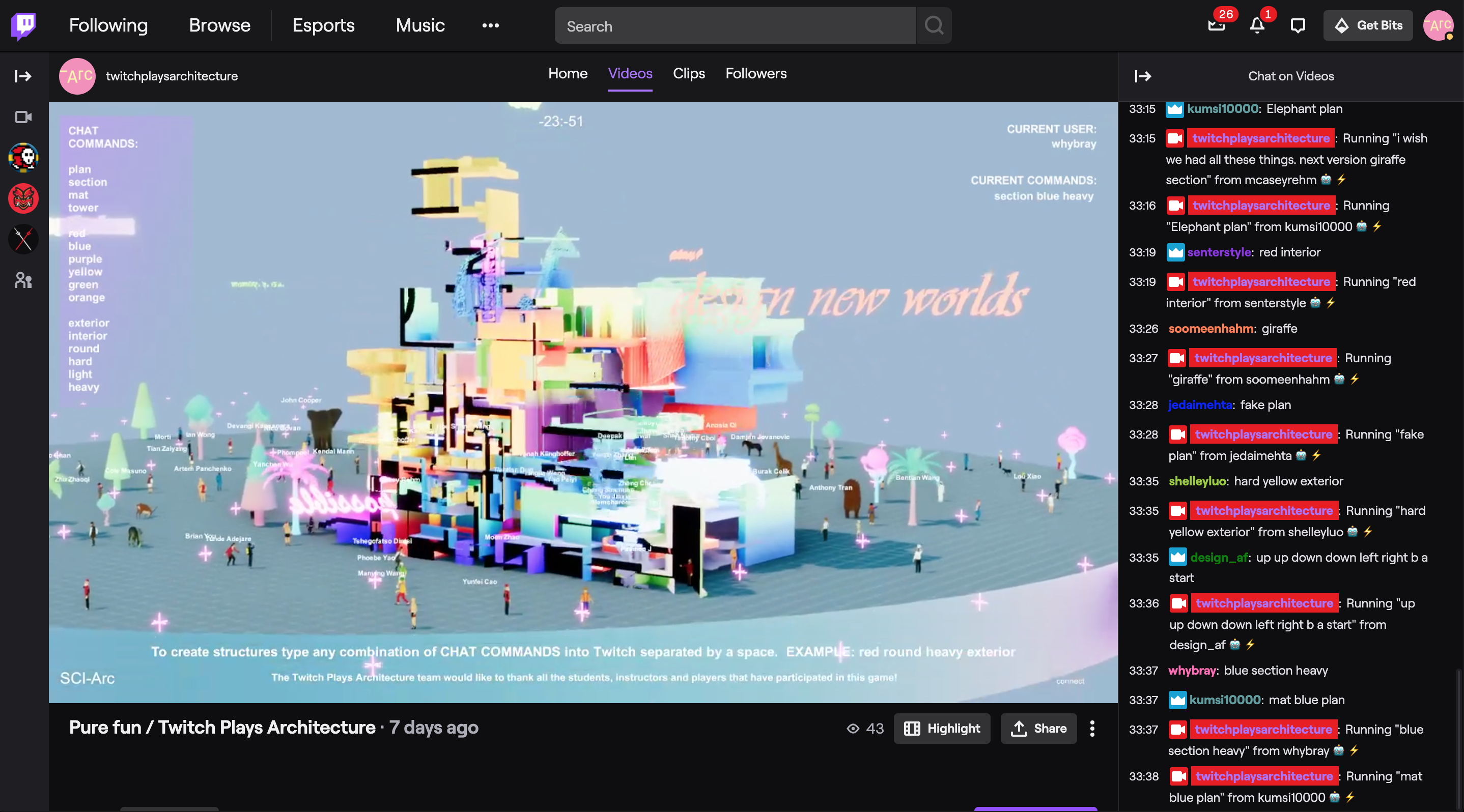 twitch interface Twitch Plays Architecture