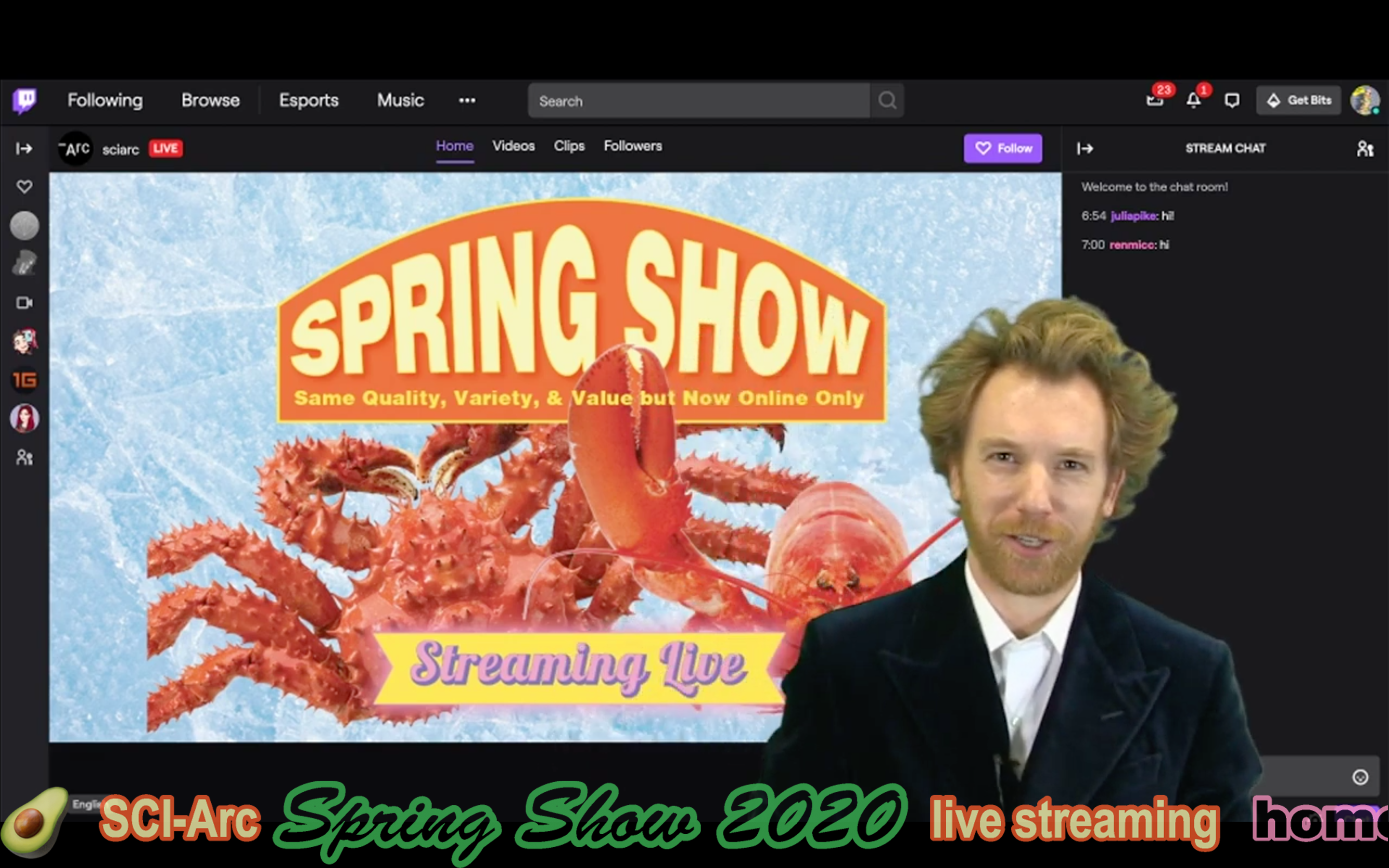 John Cooper on Twitch screen