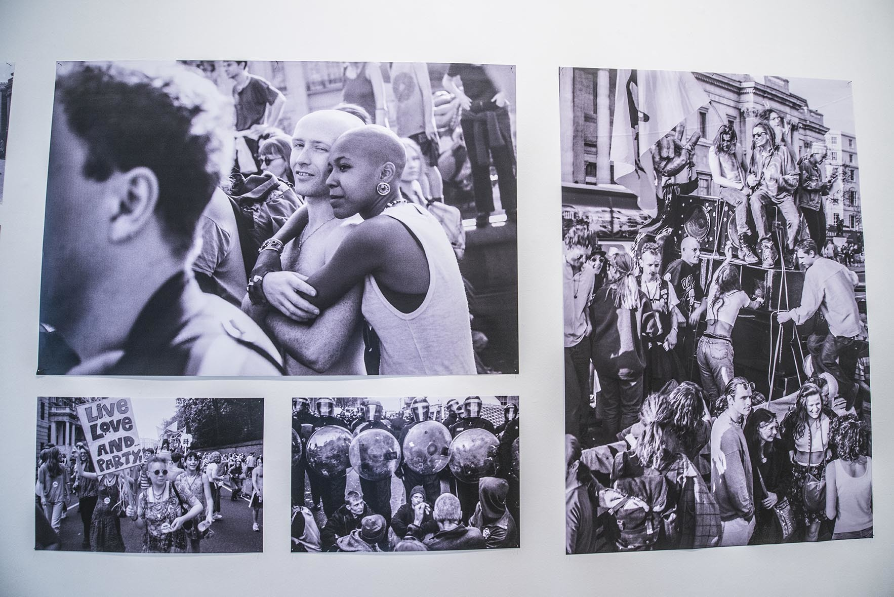 Saatchi gallery art photography counterculture on wall