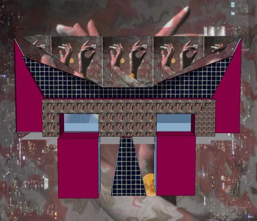 abstract digital image hands blocks
