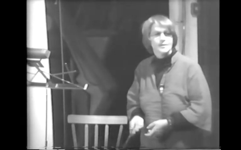 black white film screenshot woman teaching