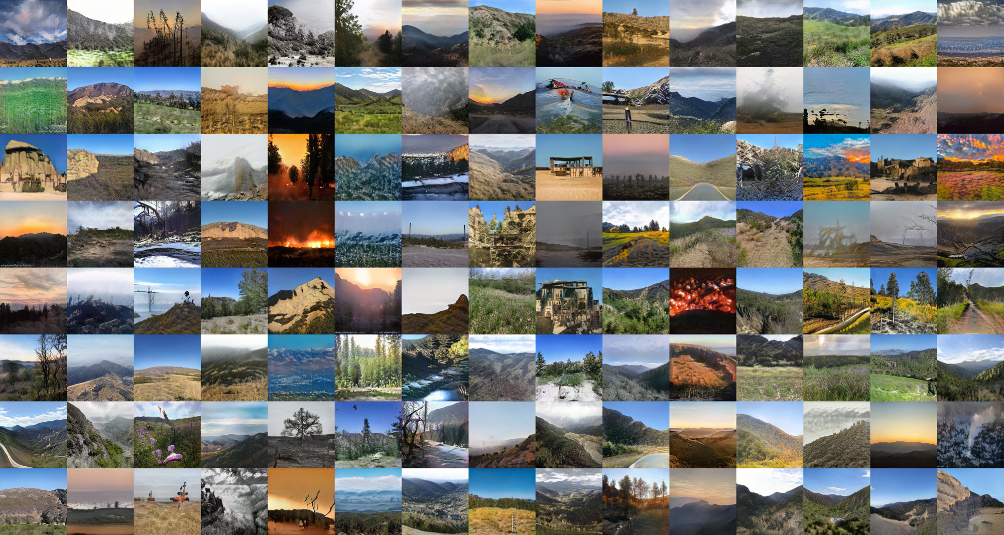 grid of landscape images