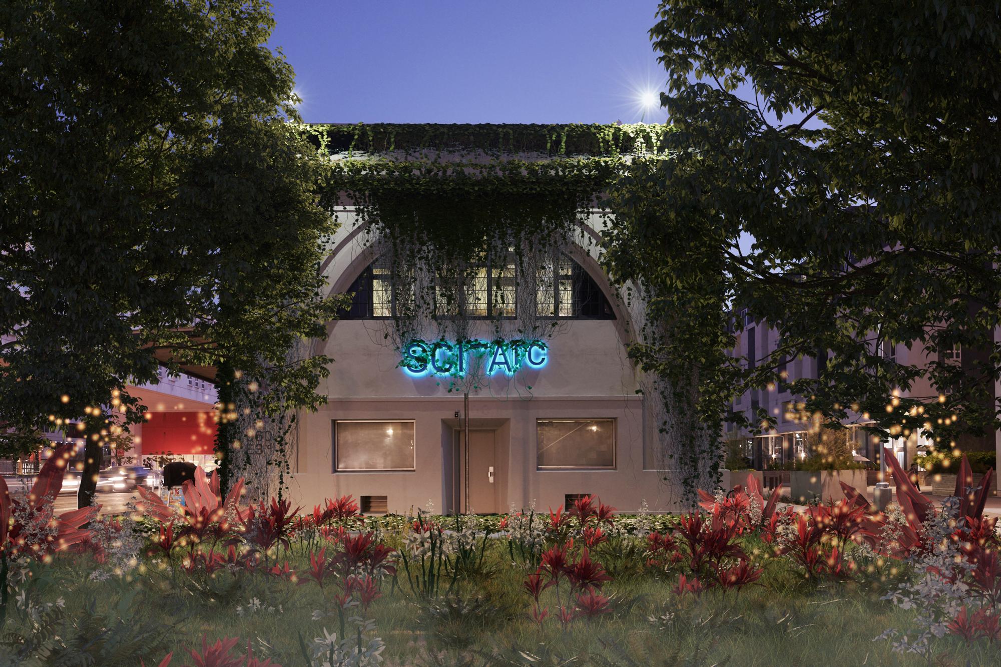 SCI-Arc facade green overgrowth