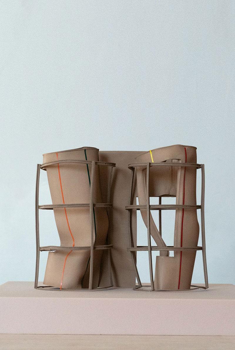 architecture model cardboard wood
