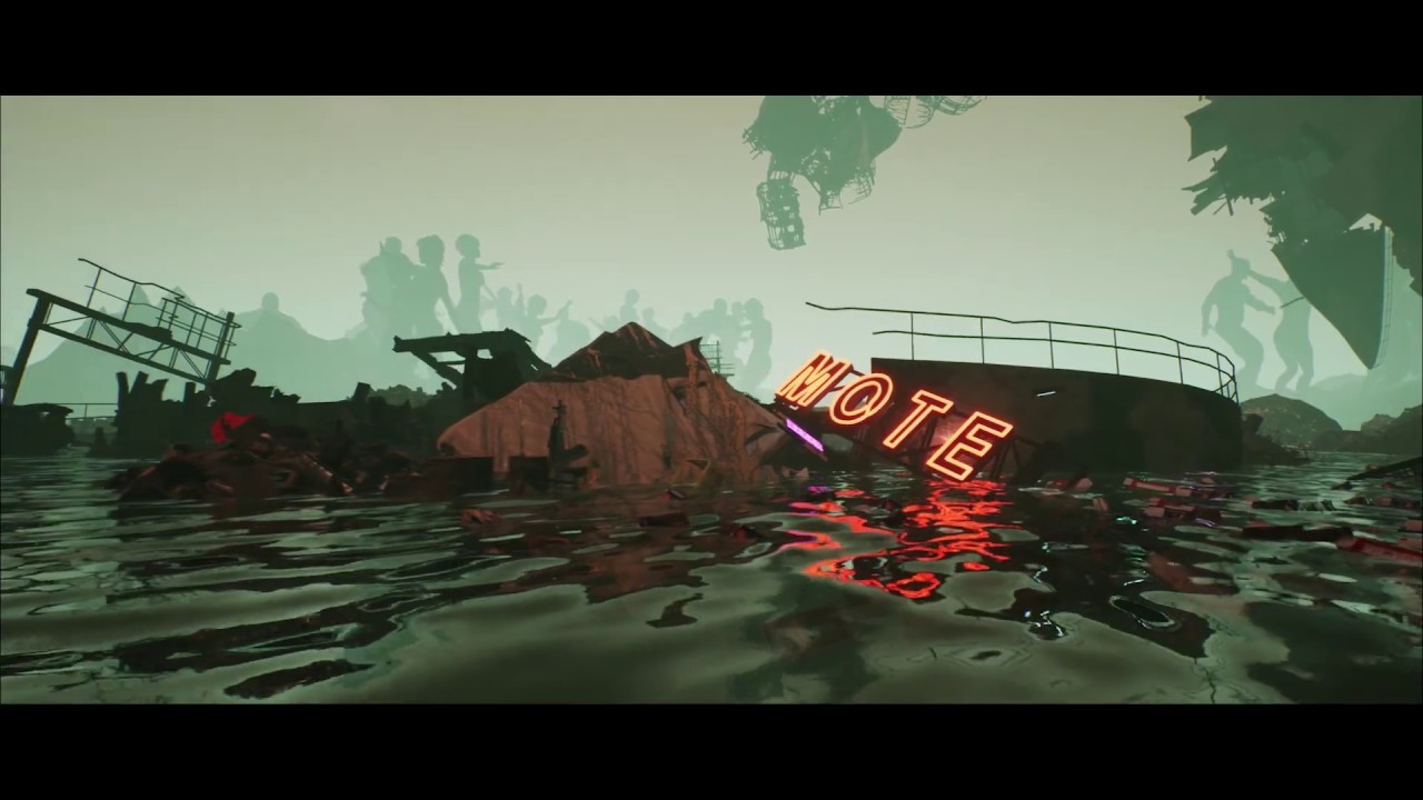 animation still water floating debri