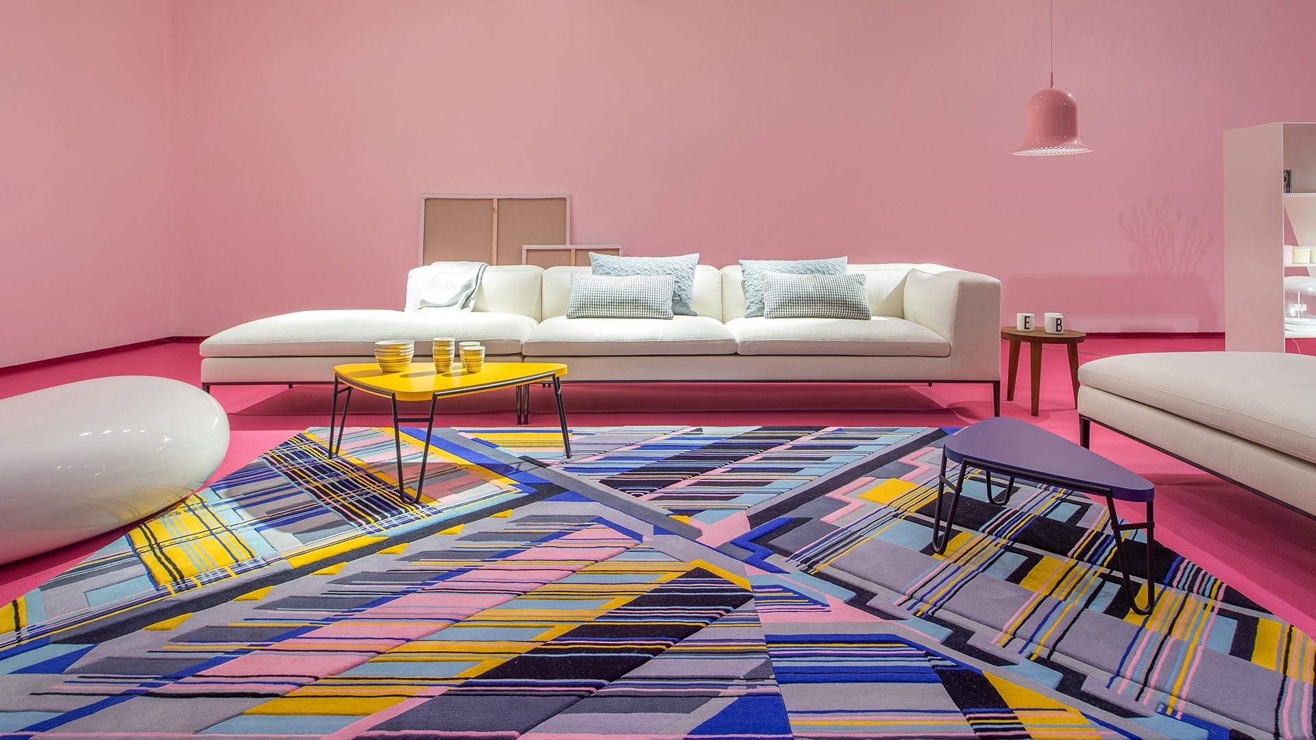 Urban Fabric rugs Elena Manferdini in interior arrangement