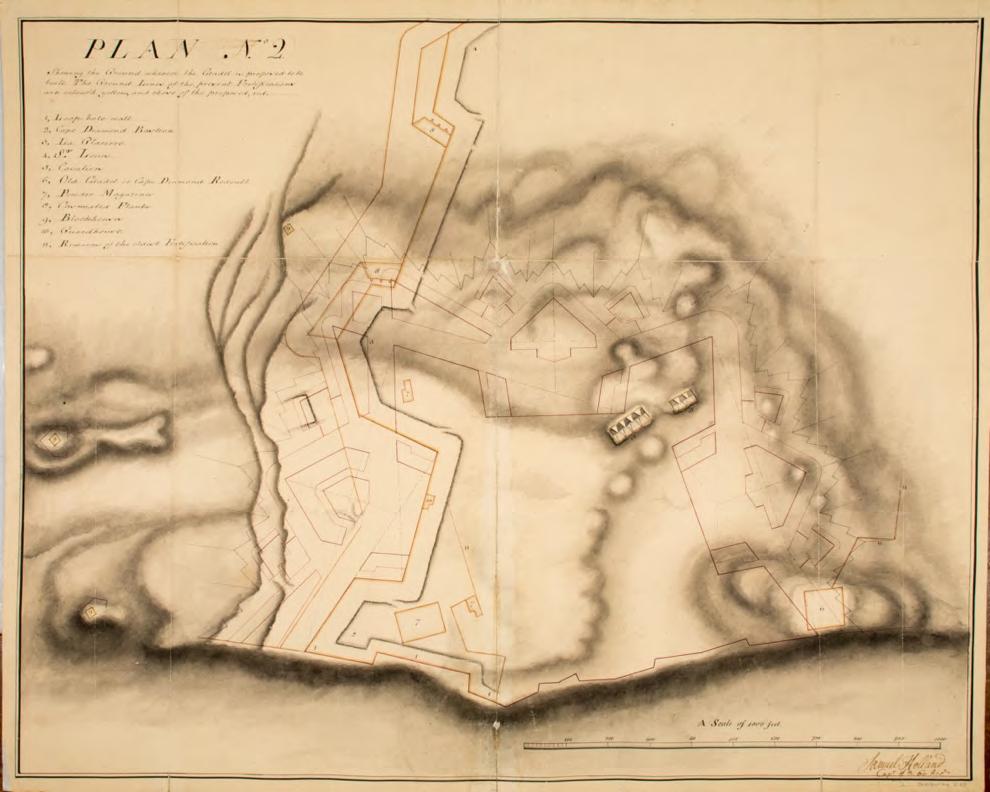 beige map plan watercolor ink