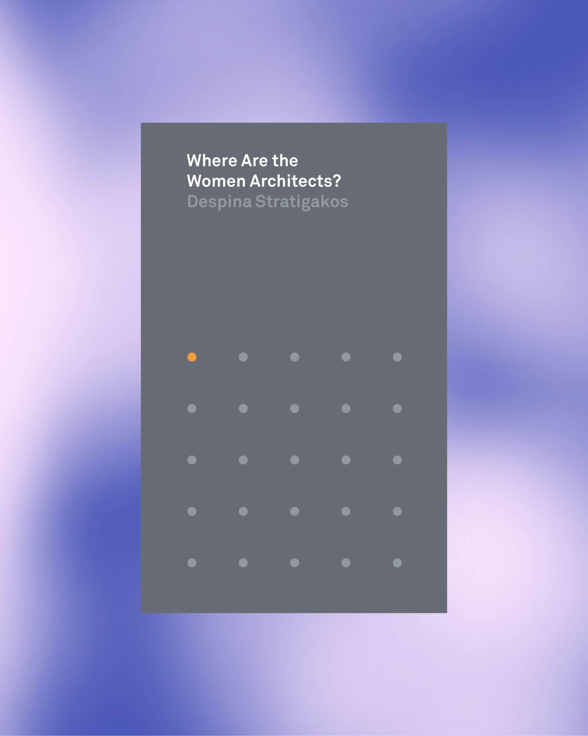 Where are the women architects? book cover