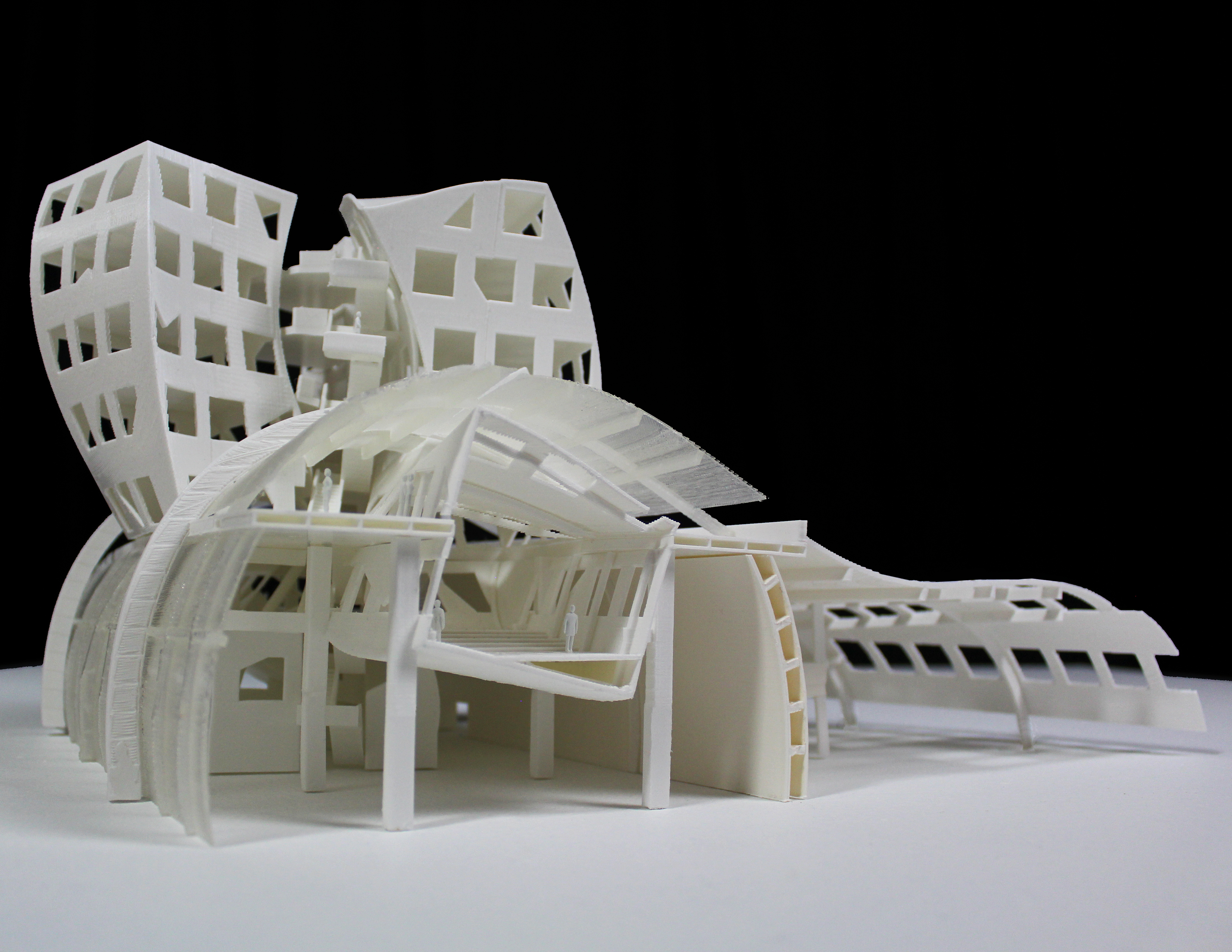 sectional white physical model