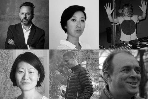 Liberal Arts Faculty (L to R): Benjamin H. Bratton, Jia Gu, Michael Stock (top row), Kavior Moon, Adam Lawrence, Graham Harman (bottom row)