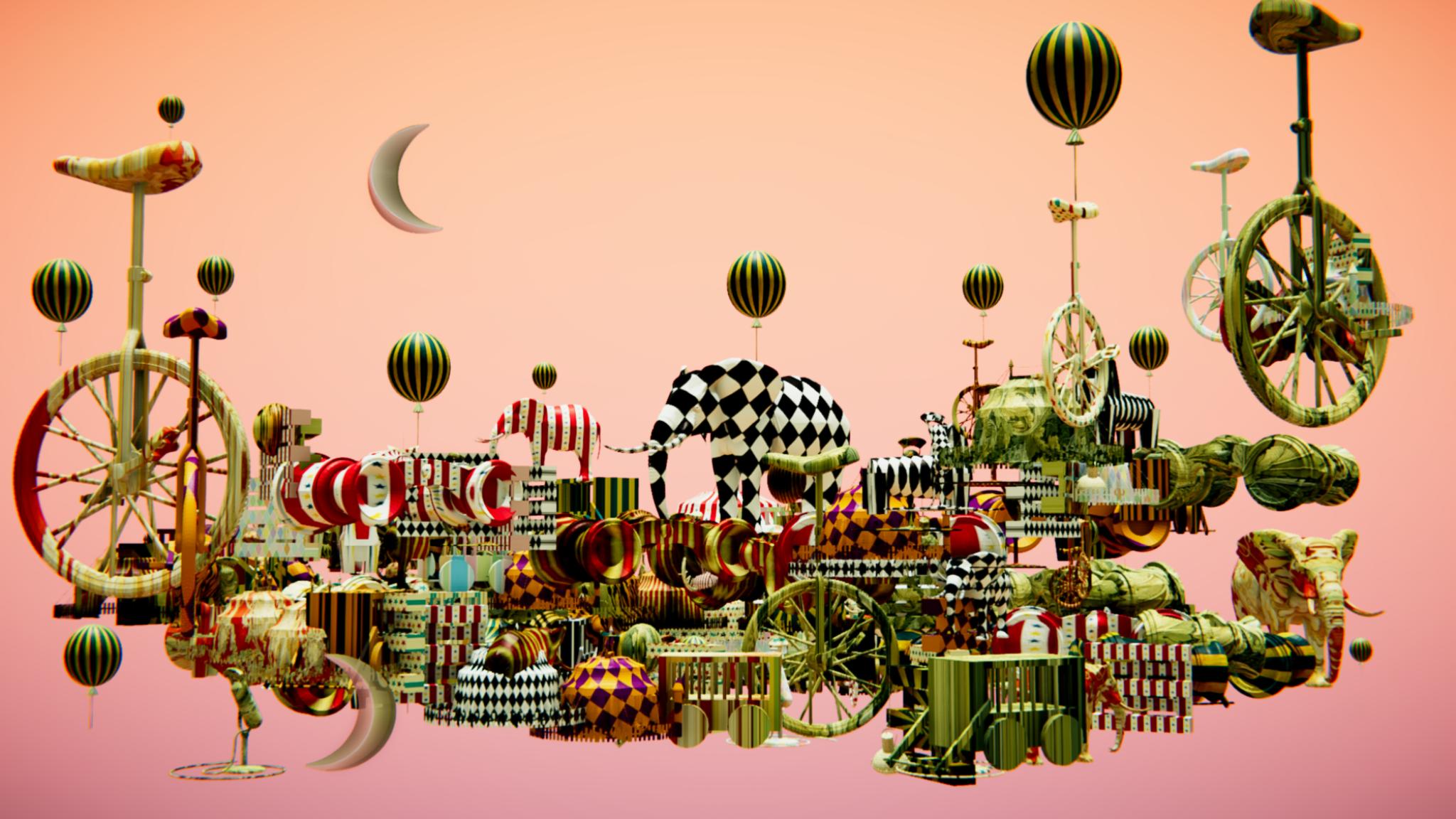 fantasy circus floating