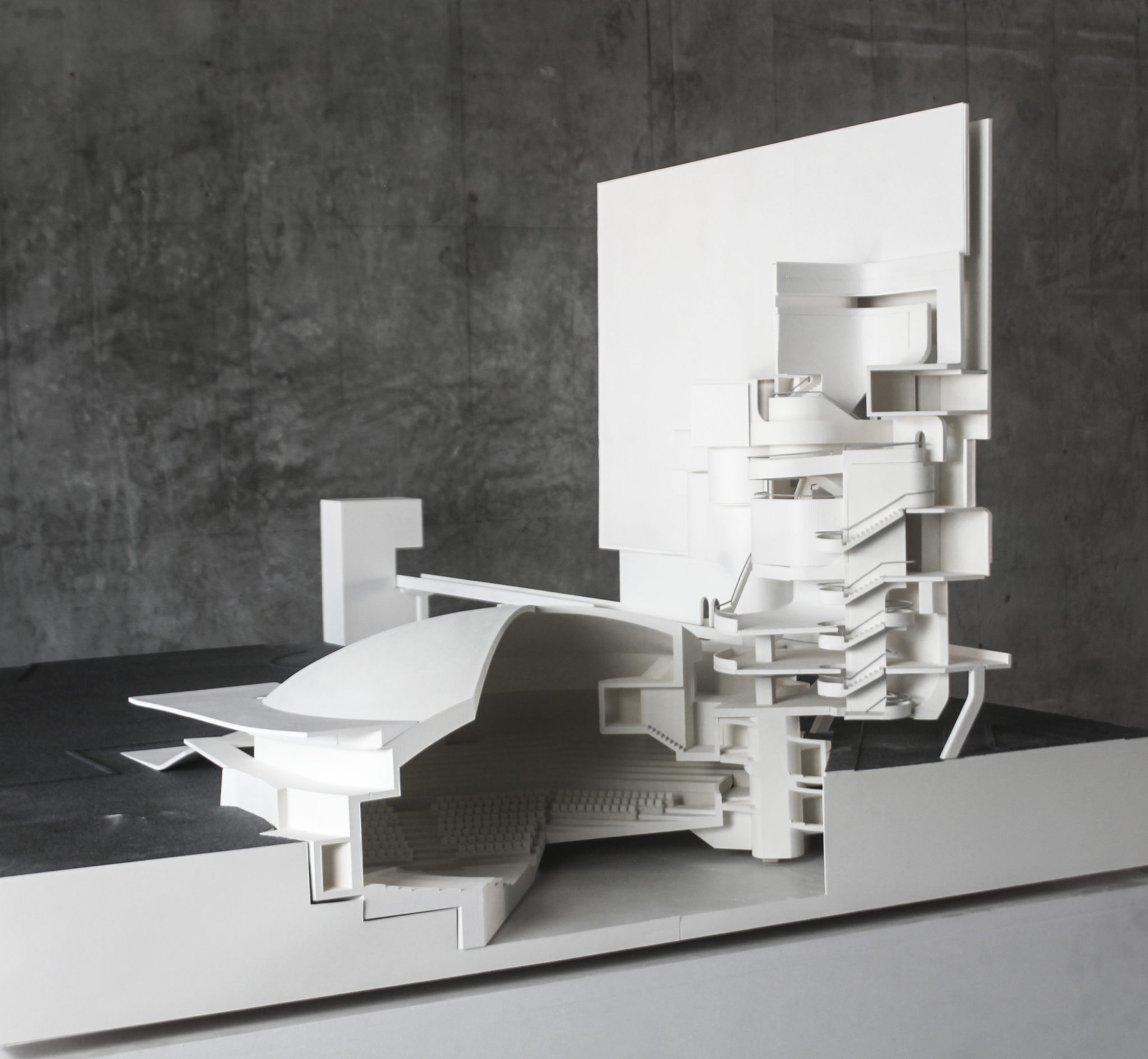 ampitheater building model by student