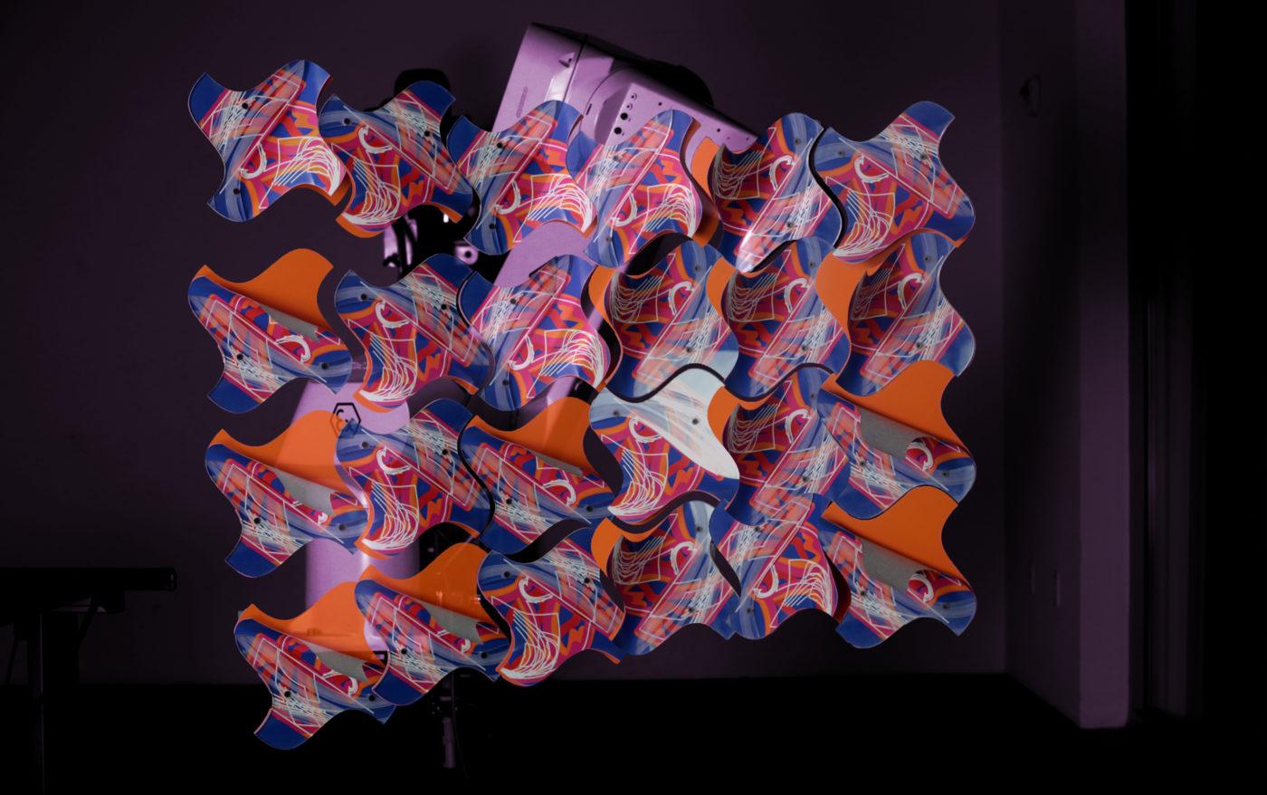 colorful panels geometric design
