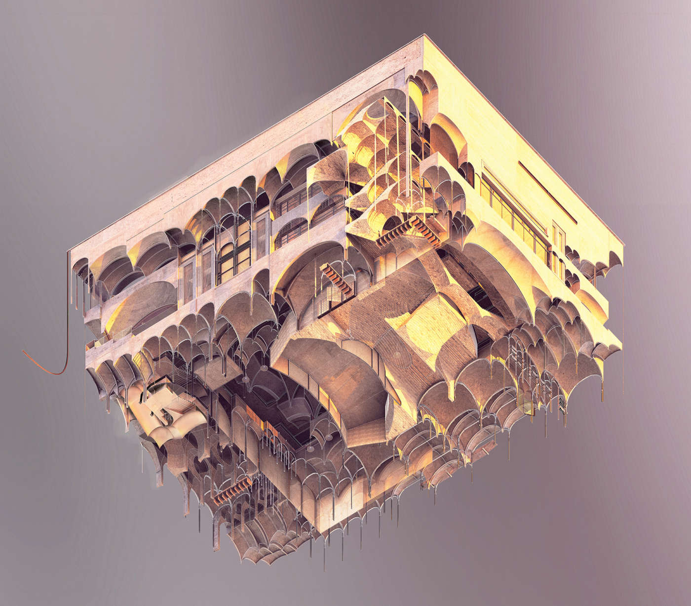 undergraduate thesis rendered worms eye isometric