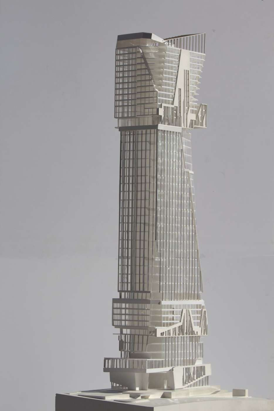 Physical Model Tower In Downtown Los Angeles Sally Lin And Chu Wen Ong 3 A Oyler