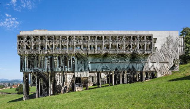 building facade AI render