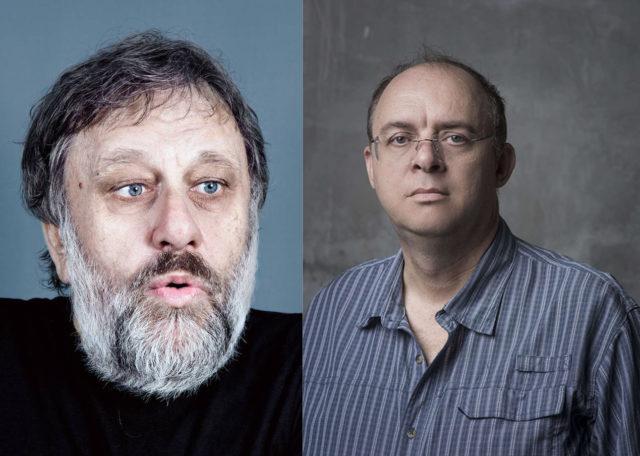 Slavoj Zizek Graham Harman portraits
