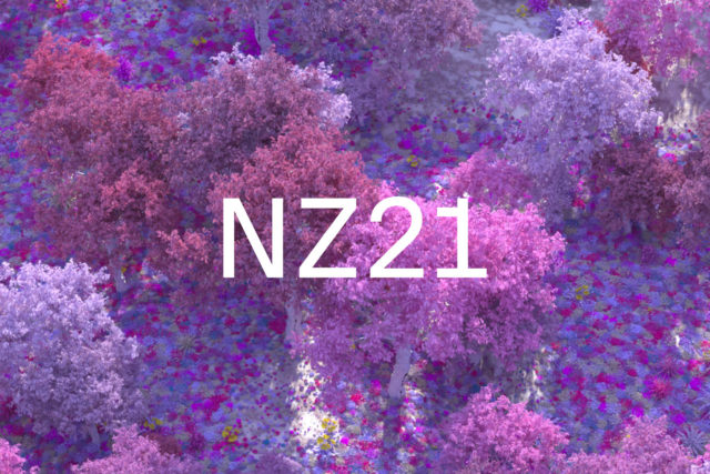 pink purple trees with NZ21 text